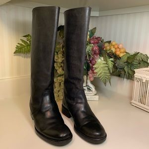 J. Crew Tall Black Leather Riding Boots